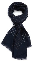 Drakes Men's Dot Wool & Silk Scarf