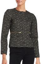 Helene Berman Textured Zip-Front Blazer