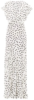 Rat & Boa - Mariella Polka-dot Print Maxi Dress - Womens - White Black