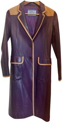 Prada Purple Leather Coats