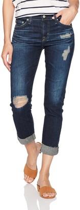 AG Jeans Women's The Ex-Boyfriend Slim Destructed Raw Hem Jean