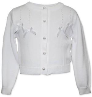 Blueberi Boulevard Baby Girls Bows Cardigan Sweater