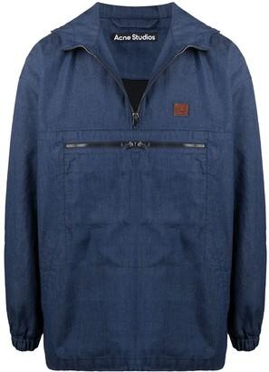 Acne Studios Face half-zip hooded jacket