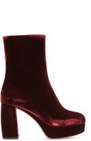 Miu Miu Burgundy Velvet Boots