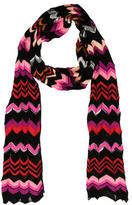 M Missoni Chevron Knitted Scarf