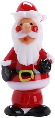Murano Matashi Christmas Winter Decorative Glass Standing Santa Figurine