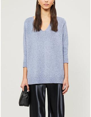 The White Company V-neck cotton-knit jumper