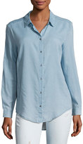 AG Adriano Goldschmied Nola Button-Down Denim Shirt, Blue