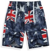 Ouroboros Swimwear Men's Board Shorts, British Flag Design