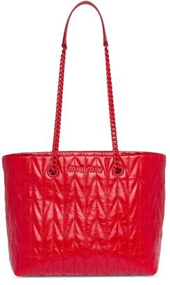 Miu Miu shiny leather tote bag