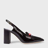 Paul Smith Women's Black Leather And Calf Hair 'Ava' Shoes