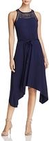 Design History Lace Yoke Belted Dress