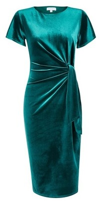 Dorothy Perkins Womens **Lily & Franc Teal Manipulated Pencil Dress
