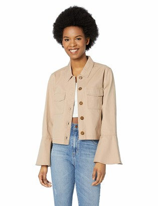 Jack by BB Dakota Women's Army of me Cotton Canvas Bell Sleeve Jacket