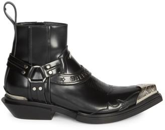 Balenciaga Santiago Leather Harness Boots