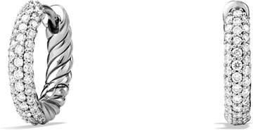 David Yurman Pave Huggie Earrings