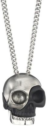 Alexander McQueen Silvertone Divided Skull Pendant Necklace