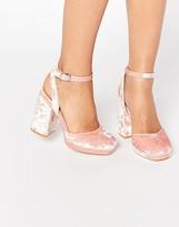 Asos PUTNEY Velvet High Heels