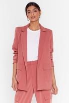 Nasty Gal Womens Can't Pocket Enough Longline Blazer - pink - 10, Pink