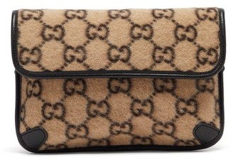 Gucci Gg Print Felt Belt Bag - Mens - Beige Multi