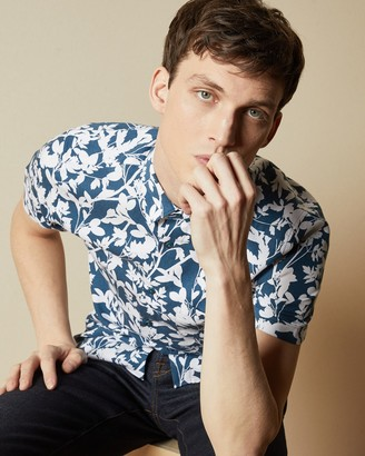 Ted Baker SMORE Short sleeved floral print shirt