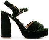 Tory Burch block heel textured sandals