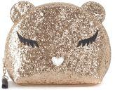 Furla Beauty Allegra S In Golden Glitter Leather