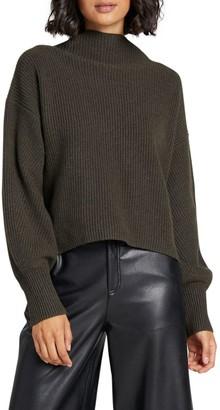 A.L.C. Helena Ribbed Wool & Cashmere-Blend Mockneck Sweater