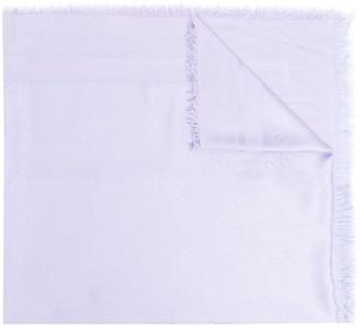 Elisabetta Franchi Jacquard Logo Fringed Scarf