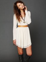 Free People Flannel Showtime Dress