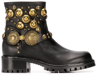 Albano Rounded Stud Embellished Boots