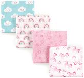 Luvable Friends 28'' x 28'' Blue & Pink Rainbow Receiving Blanket Set