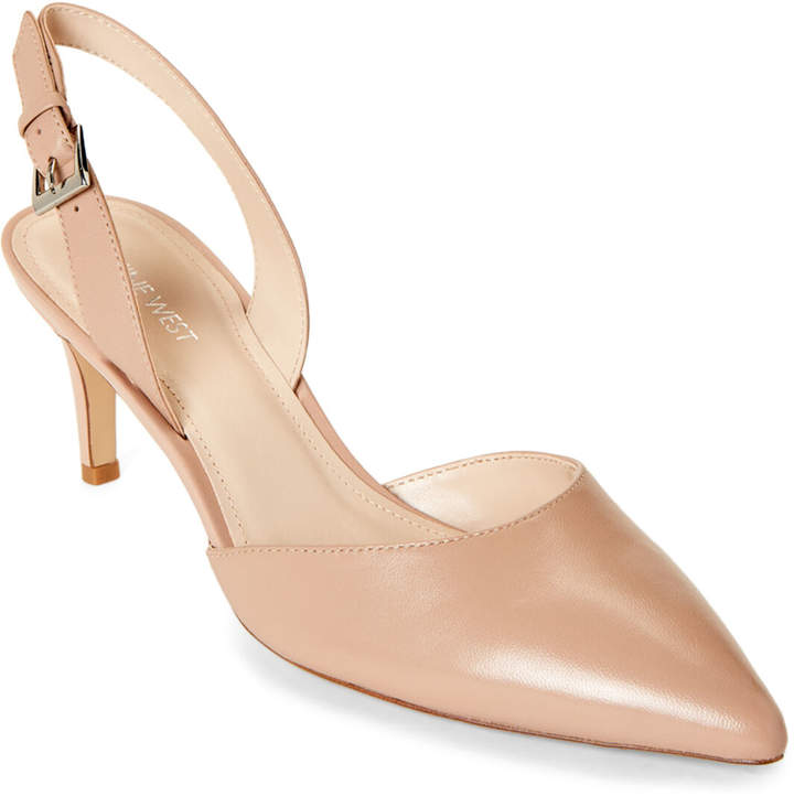 a41d6362b75 Barely Nude Epiphany Leather Slingback Pumps