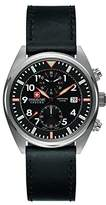 Swiss Military Men's SM34302AEU/H02S Quartz Watch with Black Dial Analogue Display and Leather Strap