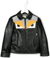 Fendi Bag Bugs jacket - kids - Leather/Viscose/Polyester - 6 yrs