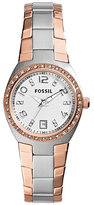 Fossil Serena Glitz Two-Tone Multifunction Watch
