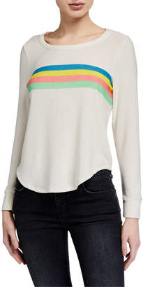 Chaser 80's Stripe Long Sleeve Top