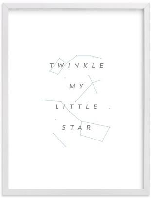 Pottery Barn Kids Minted Twinkle Little Star by AV Design Factory