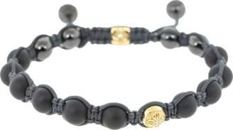 Shamballa Jewels Gold and Onyx Bead Bracelet
