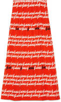 Gucci print silk pleated skirt
