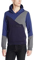 Scotch & Soda Men's Hooded Sweat with Cut Sewn Panels and Big Pocket