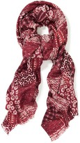 J.Mclaughlin Reed Wool Scarf in Grand Shibori Patchwork