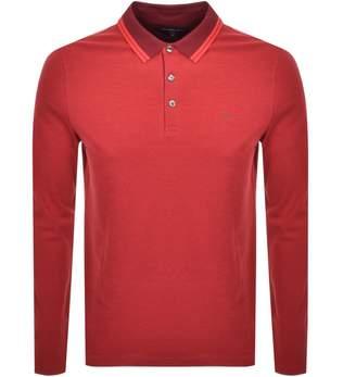 Michael Kors Greenwick Long Sleeve Polo T Shirt Re