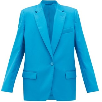 ATTICO Single-breasted Cotton-blend Suit Jacket - Blue