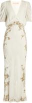 Brock Collection Daryl V-neck sequin-embellished velvet gown