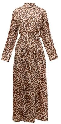 Flapper Cassandra Leopard-print Wrap Dress - Leopard