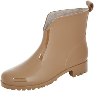 Chuva Womens 400W Dames Unlined Slip-on Boots Half Length Beige Size: 4