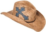 Scala Cross Patch Cowboy Hat - Straw (For Women)