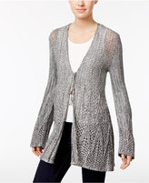 Style&Co. Style & Co Petite Crochet Tie-Front Cardigan, Only at Macy's