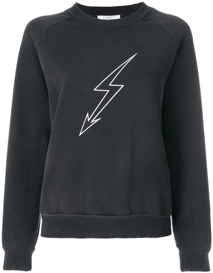 Givenchy lightening bolt sweatshirt